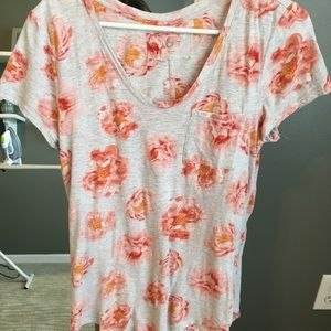 Floral oversized t shirt